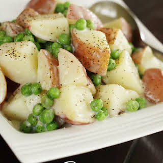 Creamy Potatoes & Peas.