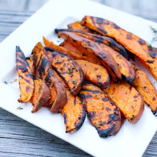 Grilled Sweet Potato Wedges.