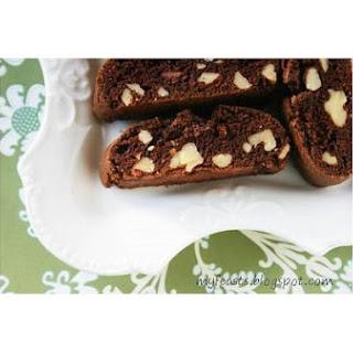Chocolate Walnust Biscotti