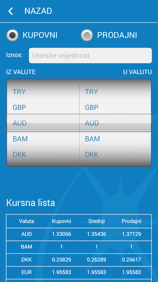 Nova banka- screenshot