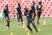 Thabo Matlaba of Orlando Pirates during a training session at Rand Stadium on March 12 2018 in Johannesburg, South Africa.