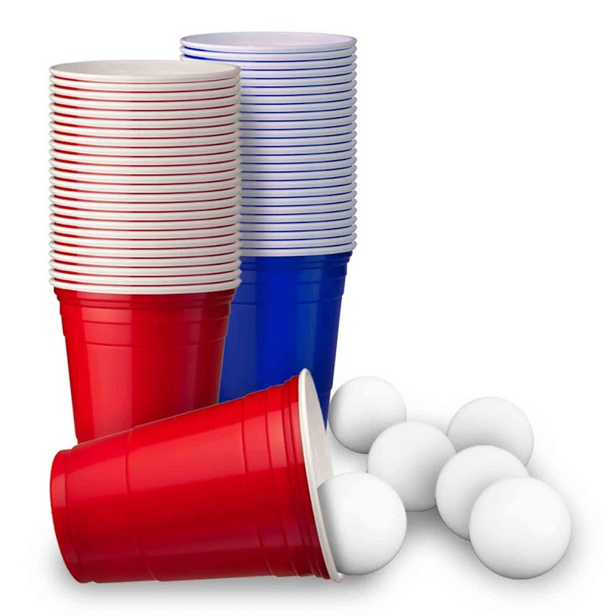 Stort Beer Pong Sæt (25 Red Cups + 25 Blue Cups + 6 Bolde)