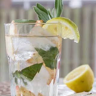 Cinnamon Water with Apple, Sage, and Lemon.