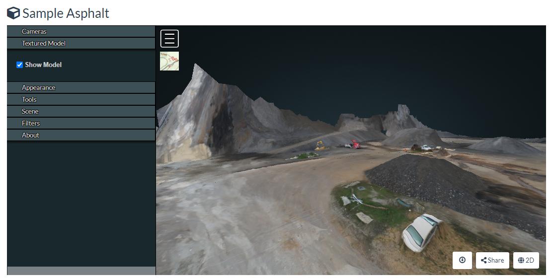 3D textured model webodm