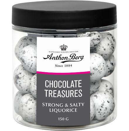 Dragé sötlakrits/choklad 150g.