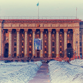 Kazakh British Technical University, Almaty, Kazakhstan by Oxana Chorna - Buildings & Architecture Public & Historical ( kazakh british technical university, kazakhstan, almaty )