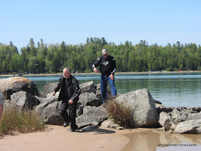 Photo: 2whlrider and JimToes playing on the rocks...