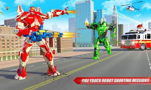 Fire Truck Real Robot Transformation: Robot Wars 2