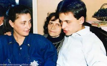 Photo: Сороковины ВПН. Мила Кондырева, Галина Некрасова, Вадим Кондырев, Ванв, 12.10.1987