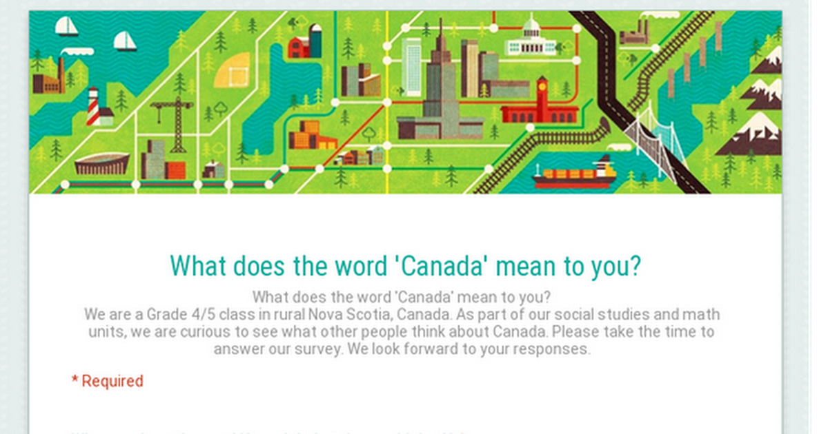 Thumbnail for What does the word 'Canada' mean to you?