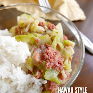 Hawaii Style Corned Beef and Cabbage.