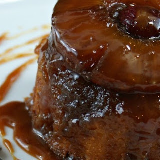 Individual Pineapple Upside-Down Cakes with Salted Caramel Drizzle