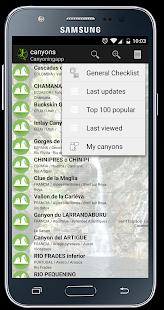 Canyoningapp - náhled