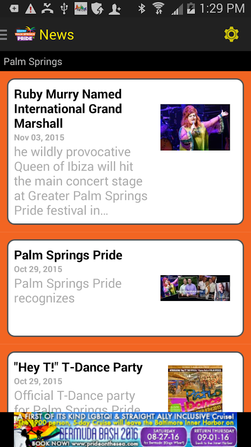 Palm Springs Pride- screenshot
