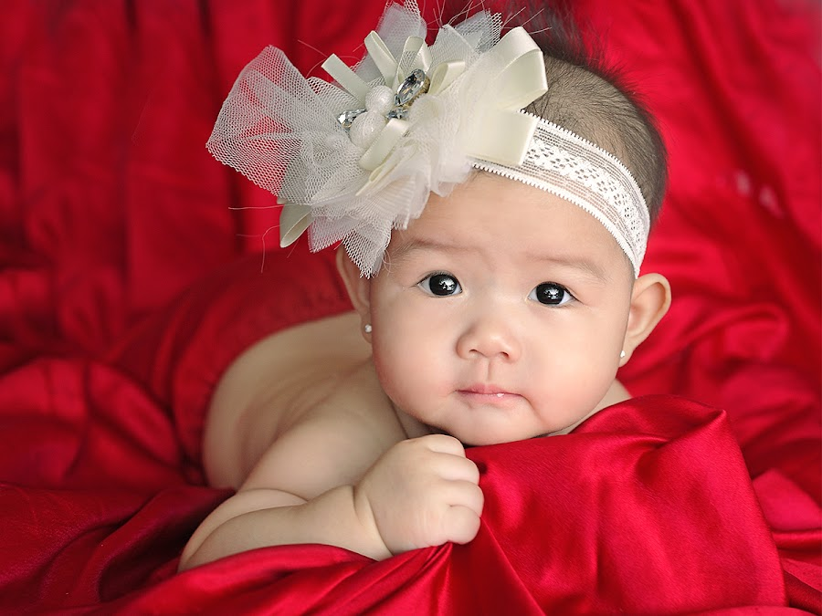 Lady in Red by Wei Fuk Lie - Babies & Children Babies ( babies, girl, newborn )