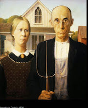 Photo: Imitating the famous painting, American Gothic by Grant Wood, made for a fun photography session.