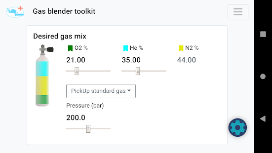 Gas blender toolkit Screenshot