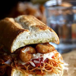 Shrimp Parmesan Sandwiches.