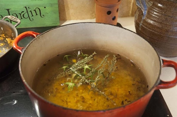 Bring the contents of the pot to a boil, and then reduce to a...