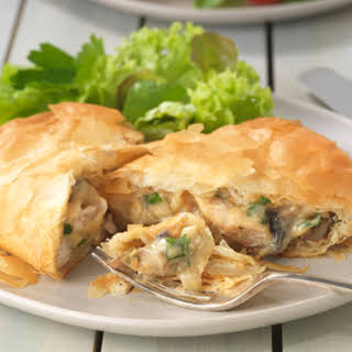 Chicken and Mushroom Filo Parcels.