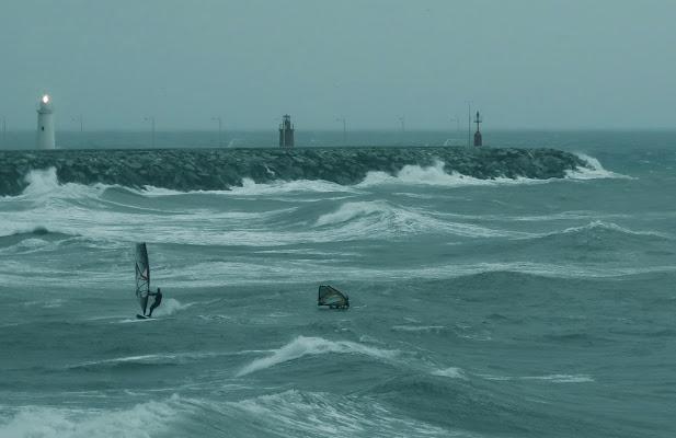 sfida al vento invernale di malte