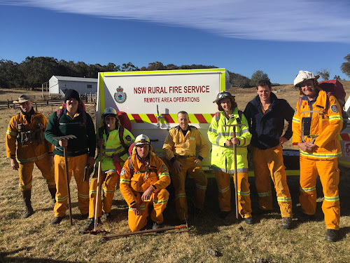 The RAFT team at a remote training session near Glen Innes in August 2017, James Cole, Jock Smith, Chris Johnson, Scott Walsh, Tim Baxter, Megan Davies, Phil Davies and Tod Schmidt. Absent is Jason Millar.