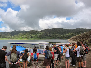 Photo: Crossing Lago Arenal