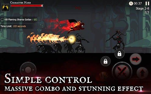 ☠☠Shadow of Death: Dark Knight - Stickman Fighting- screenshot thumbnail