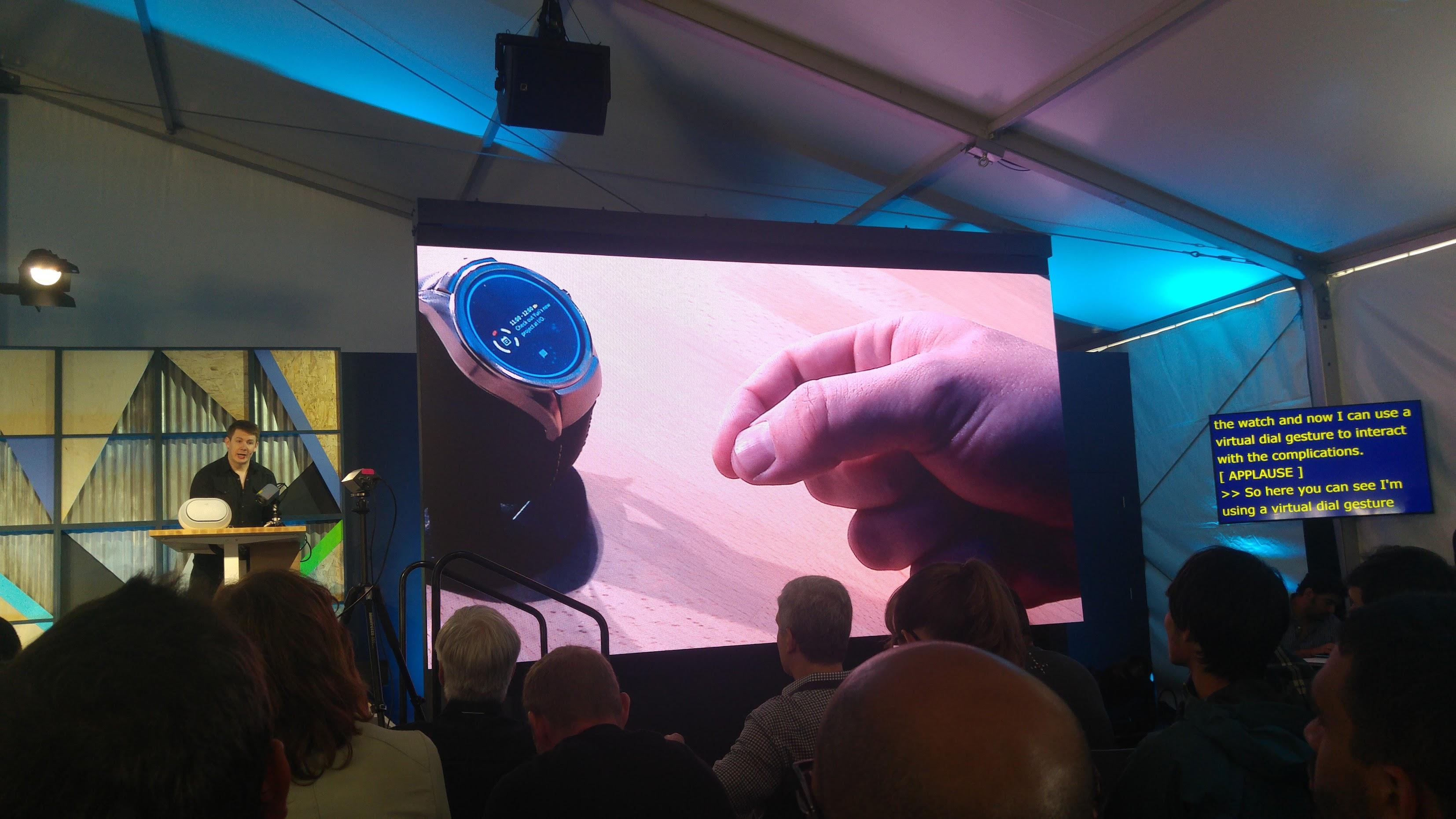 Demo of Soli radar technology at Google IO 2016, a Google ATAP project