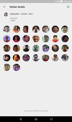 Malayalam Stickers for WhatsApp - WAStickerApps screenshot 9