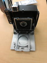 Photo: Recessed lensboard installed in a camera - there was some light leakage at the assembly point (fixed with aluminum tape), and it is a _bear_ to get in and out, but it seems to work.