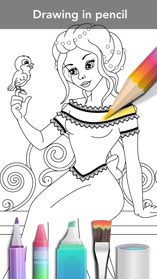 princess coloring book screenshot - Princess Coloring Books