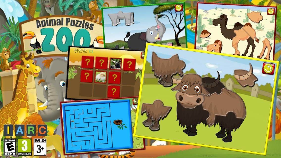 Kids Zoo Animal Jigsaw Puzzles- screenshot