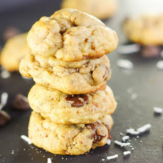 Crispy & Chewy Toasted Coconut Chocolate Chip Cookies.