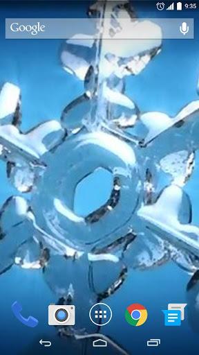 Glass Snowflake Live Wallpaper