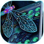3D Emerald Dragonfly Theme