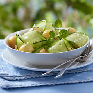 Cucumber Melon Salad with Mint