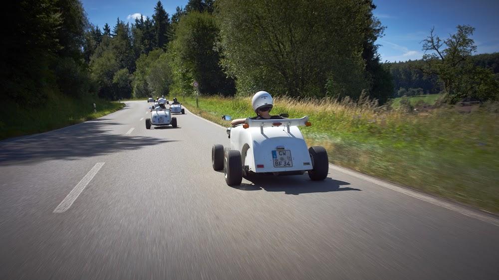 Unterwegs im Hot Rod auf den Straßen im Nördlichen Schwarzwald