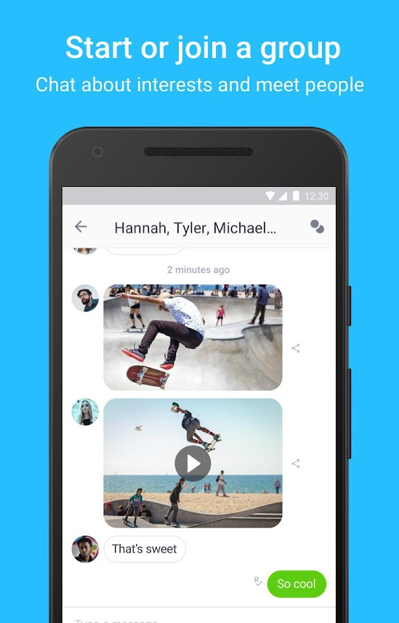 Screenshots of Kik for iPhone