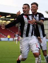 Photo: Dunfermline Athletic v Morton Irn Bru First Division East End Park 20 October 2012Ryan Wallace and Jordan McMillan celebrate(c) Craig Brown | StockPix.eu