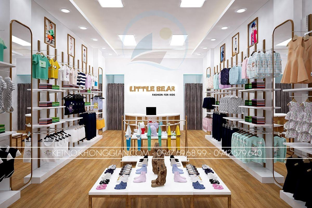 thiết kế shop thời trang trẻ em 6