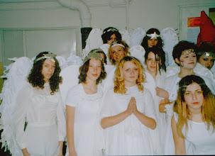 Photo: Święto Patrona Szkoły,  03.2002, chór anielski św. Cecylii