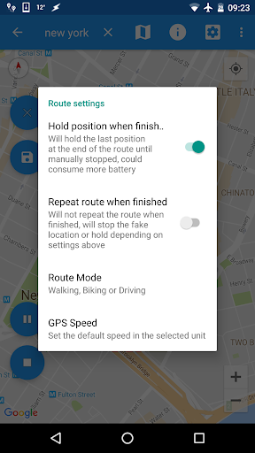 Screenshot for Fake GPS Joystick & Routes Go in United States Play Store