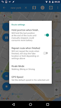 Fake GPS Joystick & Routes Go APK screenshot thumbnail 5