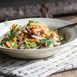 Sweet Potato Lentil Salad + Maple-Dijon Dressing.