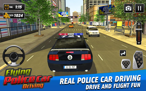 Flying Police Car Driving: Real Police Car Racing 1.0.1 screenshots 2
