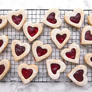 Cherry Linzer Cookies