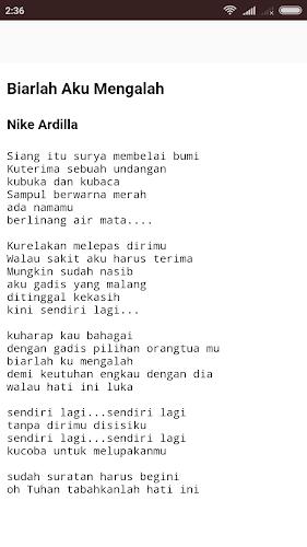 Download Lirik Lagu Nike Ardilla Apk Latest Version App By