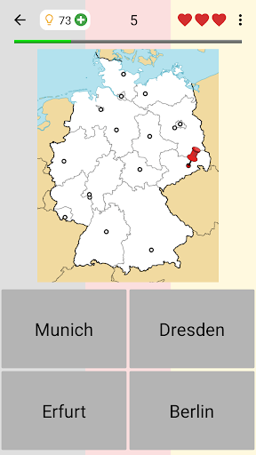 German States - Flags, Capitals and Map of Germany 2.1 screenshots 11