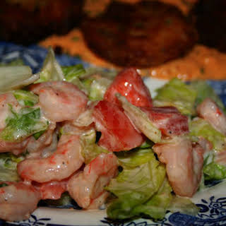 Shrimp and Iceberg Lettuce Salad.
